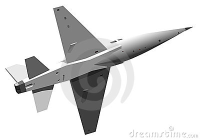Illustration of military jet