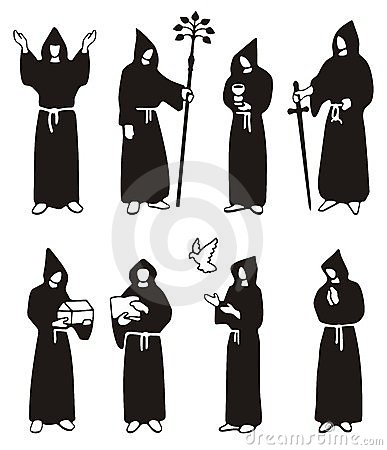 Illustration of monks