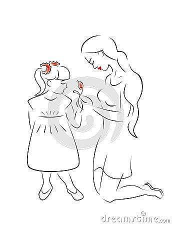 Illustration of motherhood