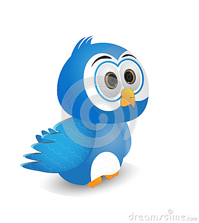 Free Illustration Of A Blue Bird Stare A Head Royalty Free Stock Image - 46003456