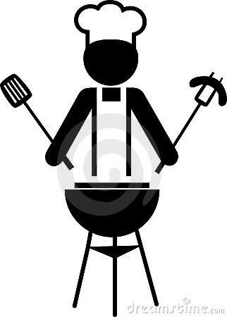 Free Illustration Of A Chef Making Bbq -1 Stock Image - 14655951