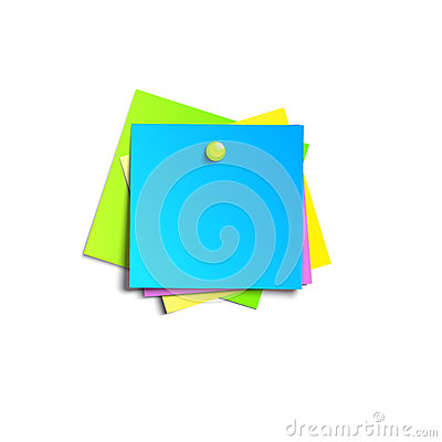 Free Illustration Of A Colored Set Of Sticky Notes Stock Photo - 53159540