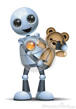 Free Illustration Of A Little Robot Carry Toy Royalty Free Stock Photography - 144876047