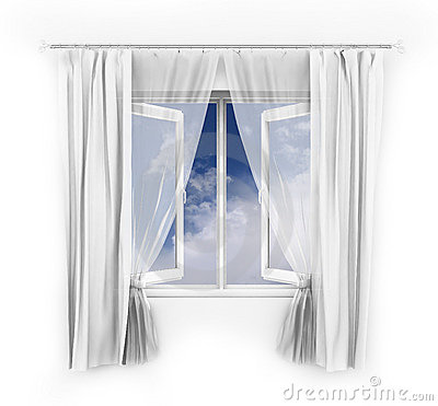 Free Illustration Of An Open Window Royalty Free Stock Images - 7664979