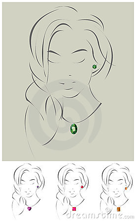 Free Illustration Of Beautiful Jewelry Model Stock Images - 13858914