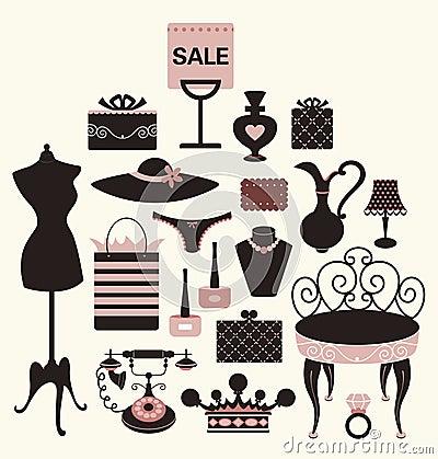 Free Illustration Of Girl Set Royalty Free Stock Photos - 9271278