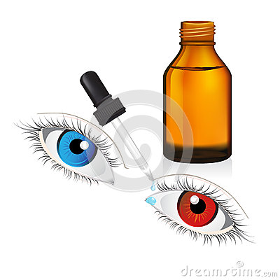 Free Illustration Of Glass  Bottle With Pipe Dropper Conjunctivitis  Royalty Free Stock Photos - 45122558