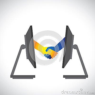 Free Illustration Of Internet Deals, Partnerships Stock Images - 27982574