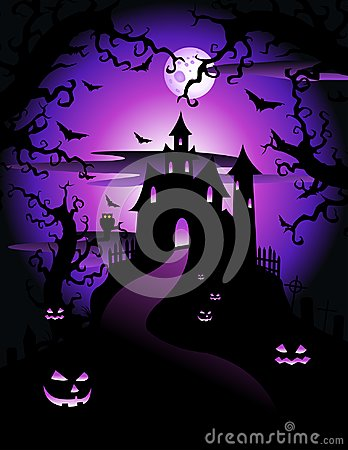 Free Illustration Of Scary Violet Halloween Theme Stock Photo - 112682570