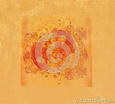 Free Illustration Of Two Koi Carps Splashing In Water Stock Photos - 22127563