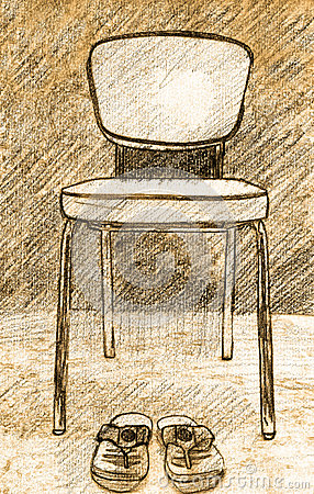 Illustration old chair