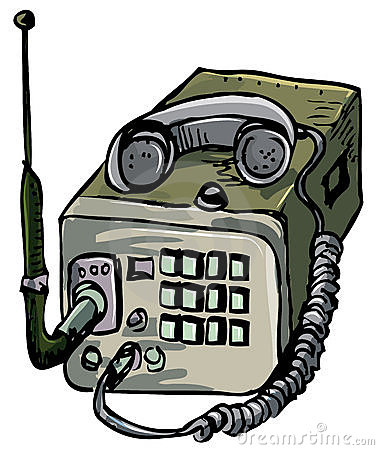 Illustration of old war time radio