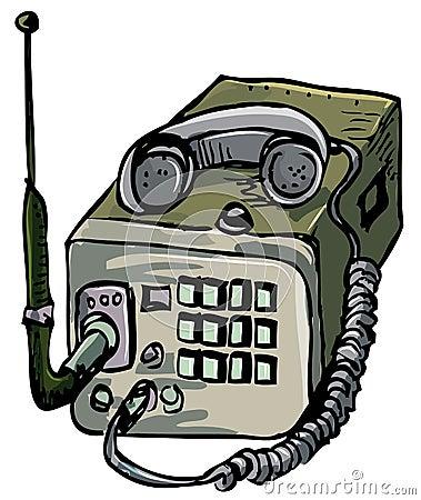 Illustration of old war time radio