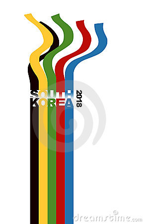 Illustration of olympic ribbons