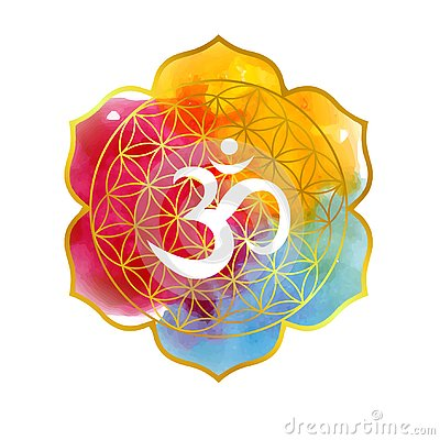Free Illustration On The Theme Of Yoga With Mandala And The Aum Stock Images - 139163084