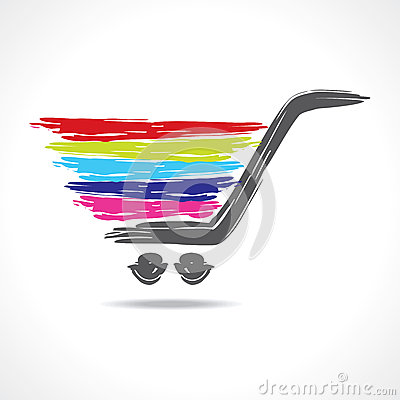 Illustration of a paint shopping cart