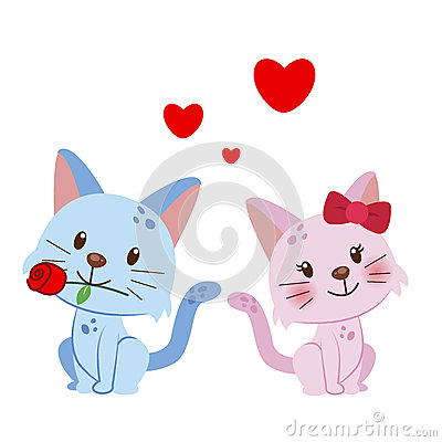 Illustration of a pair of cat