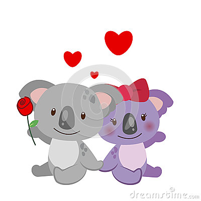 Illustration of a pair of koala