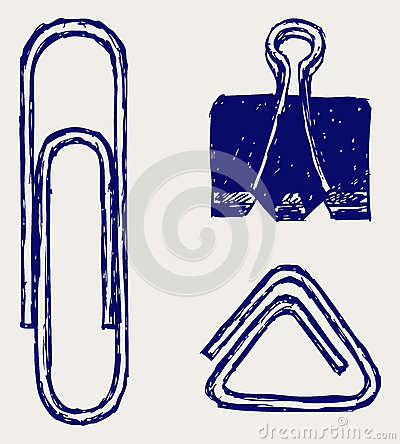 Illustration of a paper clip