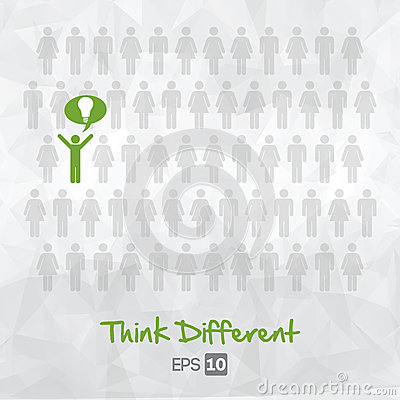 Illustration of people icons, think different