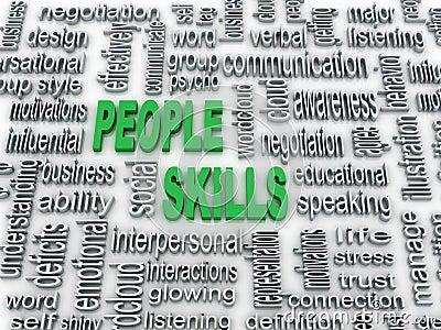 Illustration of people skills