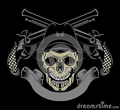 Pirate skull and guns - photo#18