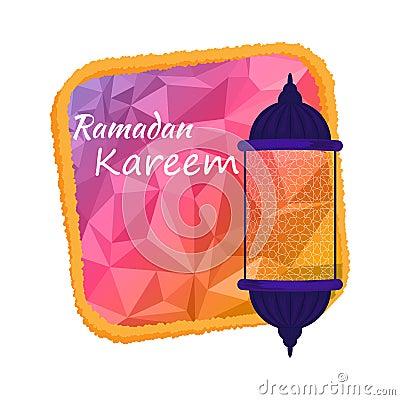 Illustration of Ramadan kareem. Cartoon Illustration