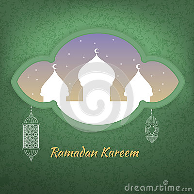 Illustration of Ramadan kareem. Cartoon Illustration