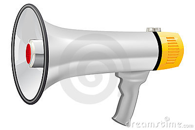 Illustration of realistic megaphone