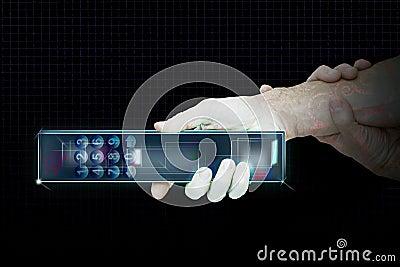 Illustration of remote control