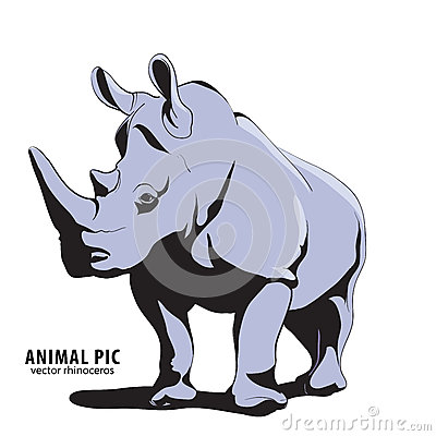 Illustration Of Rhino Stock Vector - Image: 62719332