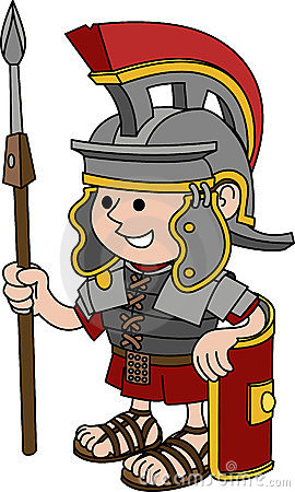 Illustration of Roman soldier