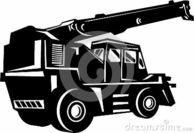 Illustration of a rough terrain crane