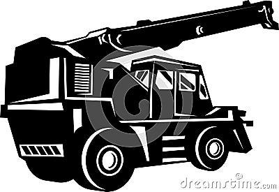 Illustration of a rough terrain crane