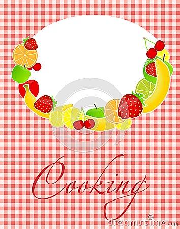 Illustration saine de vecteur de descripteur de carte de nourriture