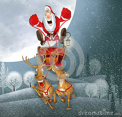Illustration with Santa Claus