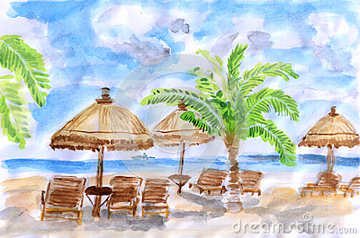 Illustration Seaside holiday