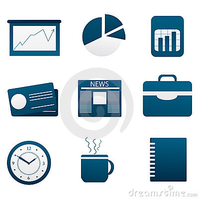 Illustration of set of different business icon