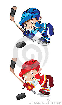 Set funny boy hockey