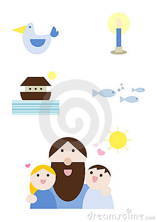 Illustration set: Religion - Christianity