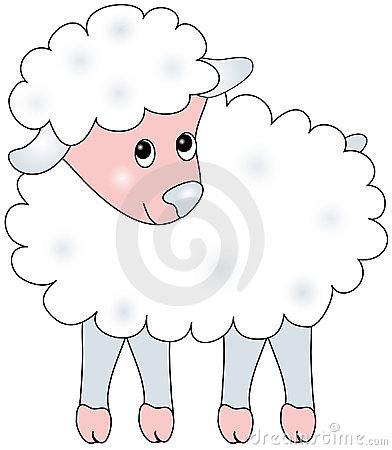 Illustration of sheep.
