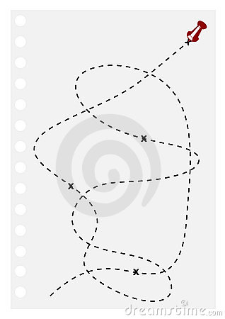 Illustration of a sheet with a target