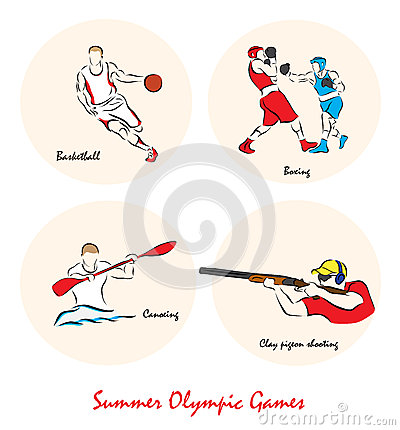 Free Illustration Showing A Summer Olympic Sports Royalty Free Stock Photo - 63165275