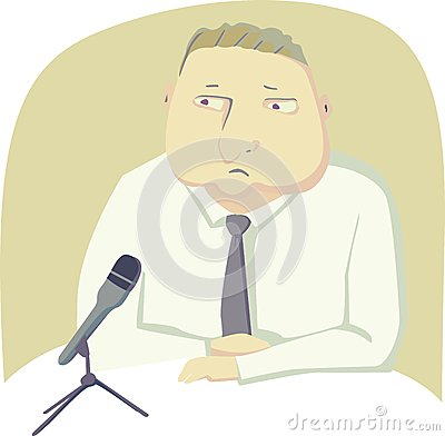 Politician with microphone