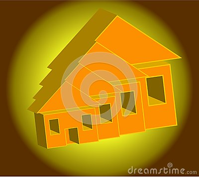 Illustration simplicity of home