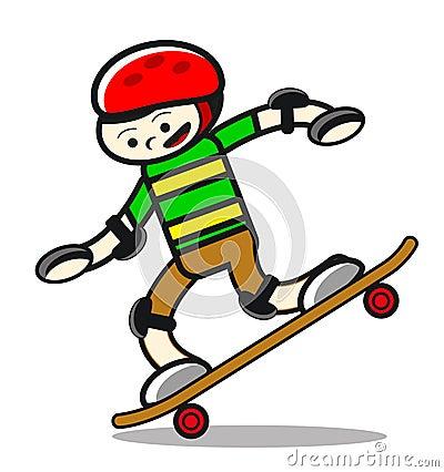 Illustration of skaterboy