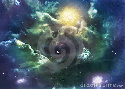 Illustration of a space nebula