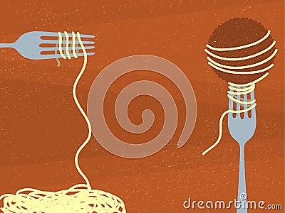 Spaghetti And Meatballs Royalty Free Stock Photo - Image ...