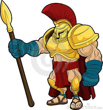 Illustration of Spartan gladiator