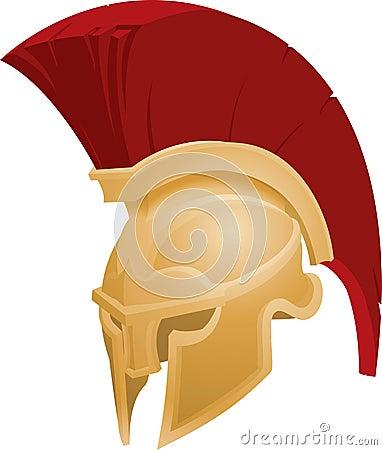 Illustration of Spartan helmet